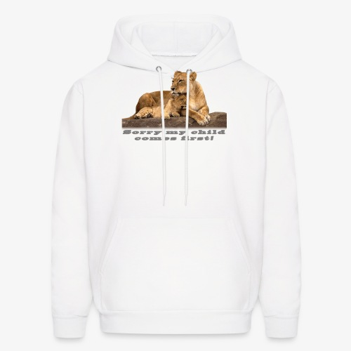 Lion-My child comes first - Men's Hoodie