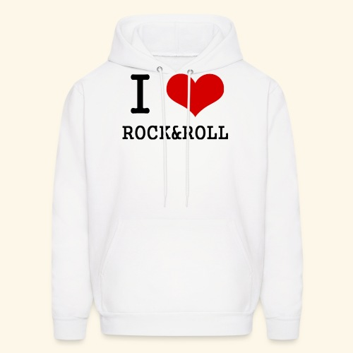 I love rock and roll - Men's Hoodie
