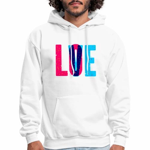 love design pattern - Men's Hoodie