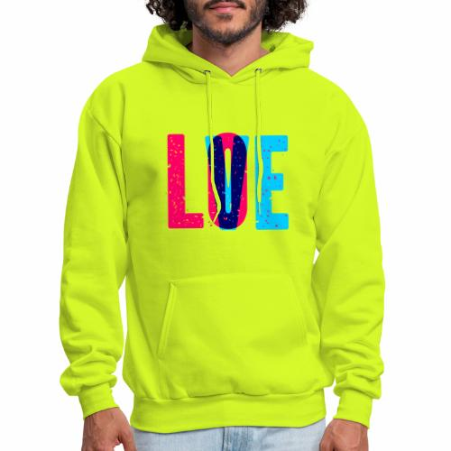 love design pattern - Men's Hoodie