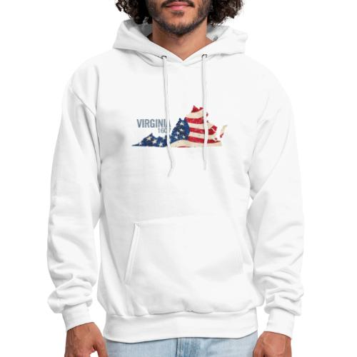 Virginia 1607 with USA Stars and Stripes - Men's Hoodie