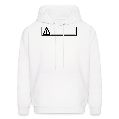 warning sign - Men's Hoodie