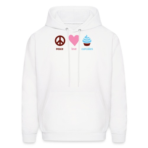 peacelovecupcakes pixel - Men's Hoodie