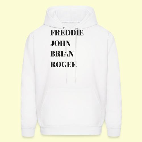 Freddie, John, Brian, Roger t shirt - Men's Hoodie