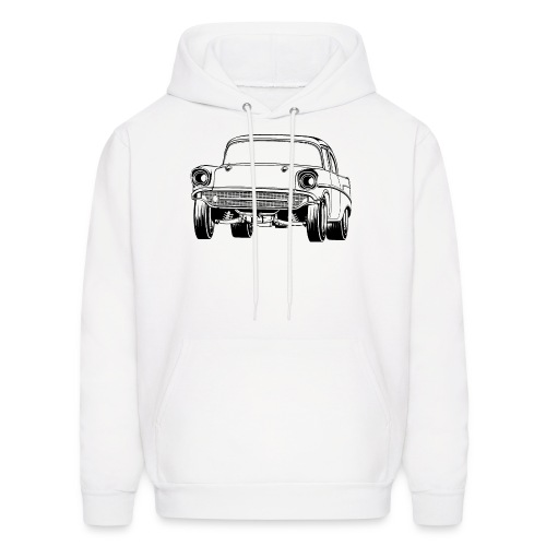 Gasser Up 1957 Chevy Drag Car - Men's Hoodie