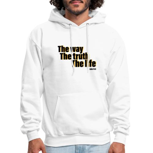 He is The way the truth the life logo - Men's Hoodie