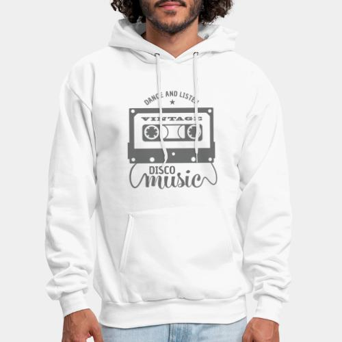 disco music retro vintage - Men's Hoodie