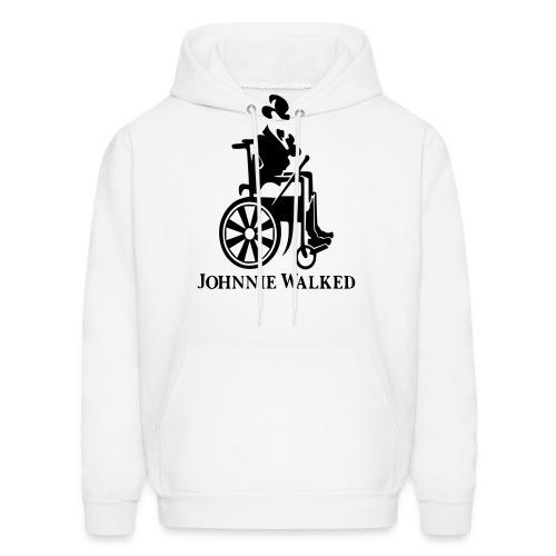 Johnnie Walked, Wheelchair fun, whiskey and roller - Men's Hoodie