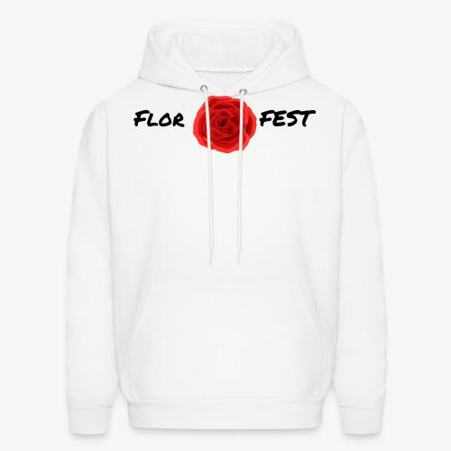 flor fest | black text - Men's Hoodie
