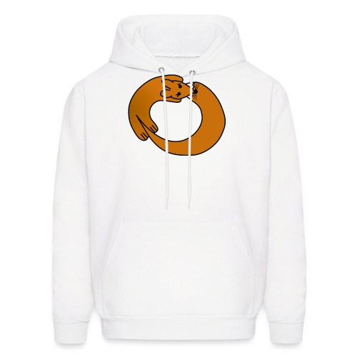 Fox Curled Up in a Circle - Men's Hoodie