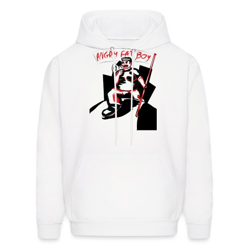 angryfatboy clear 01 png - Men's Hoodie