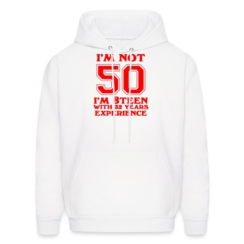 8teen red not 50 - Men's Hoodie