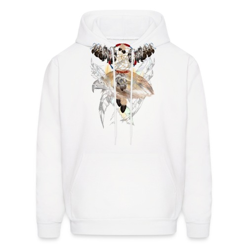 Dream Catcher and Feathers-Hawk Face Shirt - Men's Hoodie