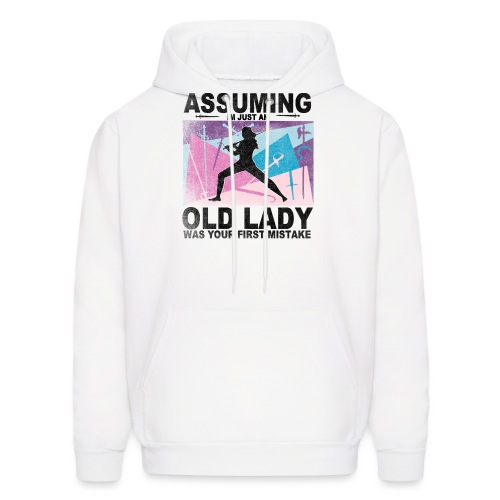 Your first mistake pink blue and purple - Men's Hoodie