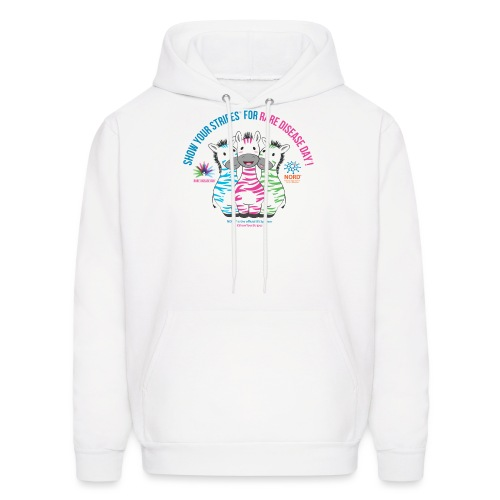 Show Your Stripes for Rare Disease Day! - Men's Hoodie