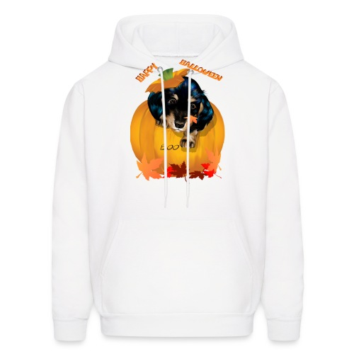 Halloween Dashund Puppy-Boo - Men's Hoodie