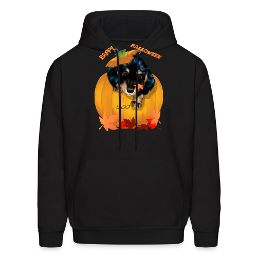 Halloween Dashund Puppy-Boo - Men's Hoodie