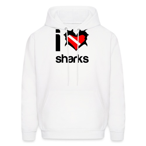 I Love Sharks - Men's Hoodie