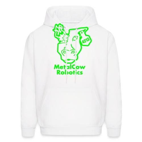 MetalCowLogo GreenOutline - Men's Hoodie