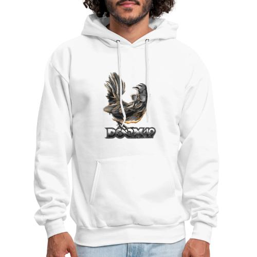 DooM49 Black and White Chicken - Men's Hoodie