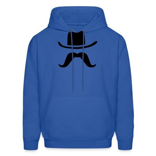 Hat & Mustache - Men's Hoodie