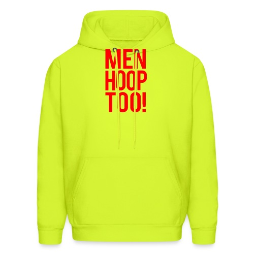 Red - Men Hoop Too! - Men's Hoodie