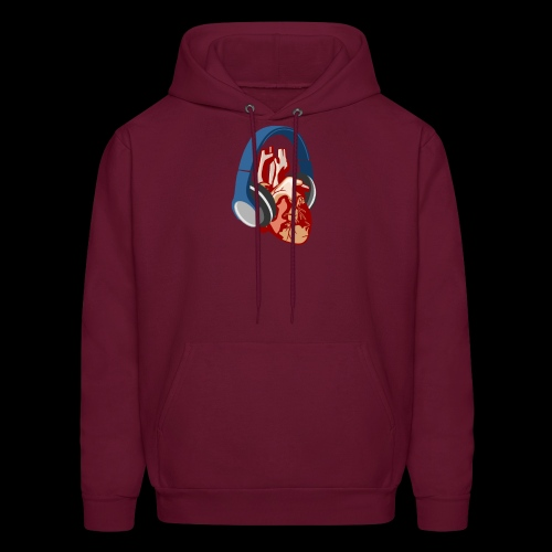 Heartbeats for Music Headphones - Men's Hoodie