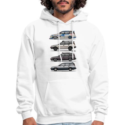 Stack of Toyota Corolla E90 - Men's Hoodie