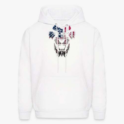 American Flag Lion Shirt - Men's Hoodie