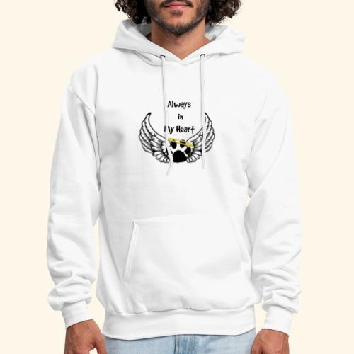 Always In my Heart Angle wings And paw Design - Men's Hoodie