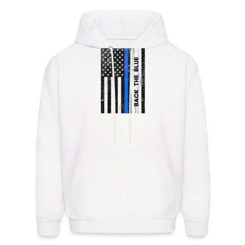 BACK THE Blue Police Officer USA - Men's Hoodie