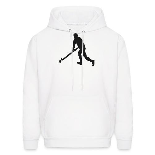 FieldHockeyMaleSilhouette - Men's Hoodie