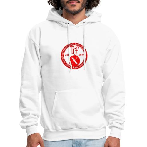 10th Anniversary Medallion - Red Marble - Men's Hoodie