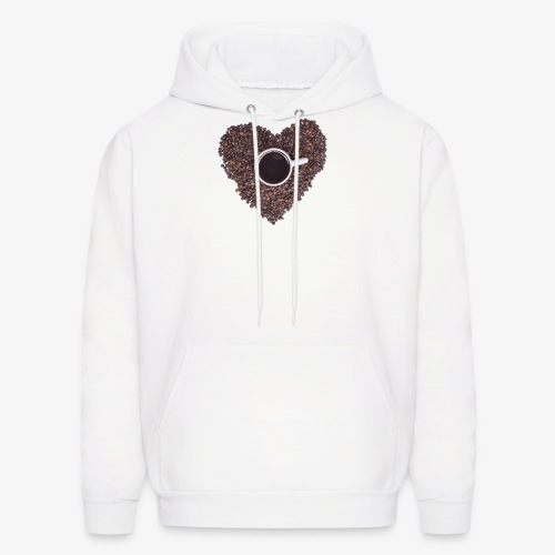 I Heart Coffee Black/White Mug - Men's Hoodie