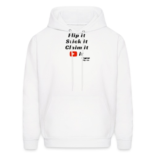 Flip it t-shirt black letting youtube logo - Men's Hoodie