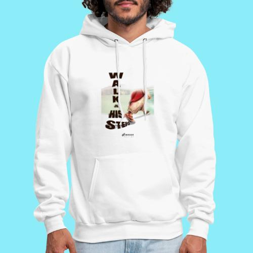 WALK IN HIS STEPS - Men's Hoodie