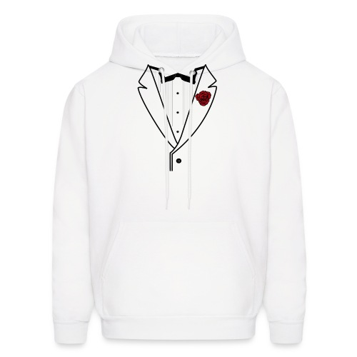 Tuxedo w/Black Lined Lapel - Men's Hoodie