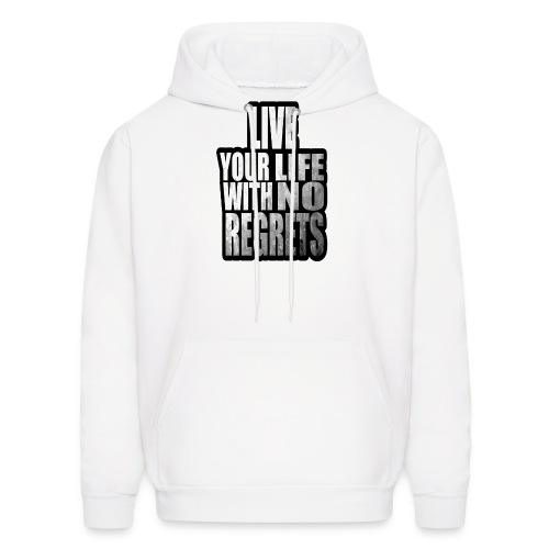 Live Your Life With No Regrets T-shirt (Black) - Men's Hoodie