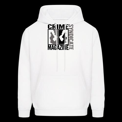 CRIME SYNDIATE MAGAZINE LOGO (No Background) - Men's Hoodie