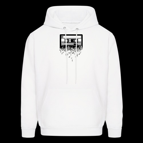 Music Notes Cassette Tape - Men's Hoodie