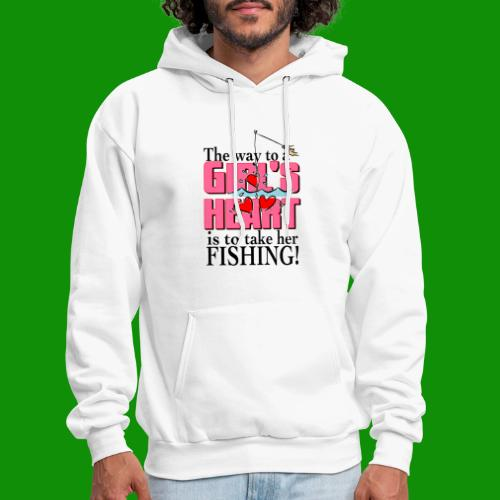 Fishing - Way to a Girl's Heart - Men's Hoodie