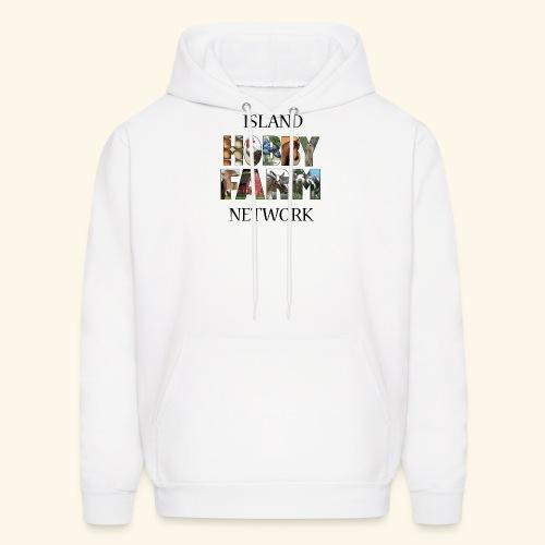 Island Hobby Farm Black Logo - Men's Hoodie