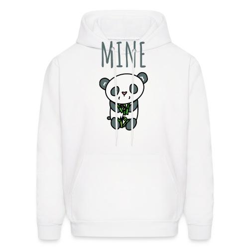 Cute Panda Eating And Holding Bamboo - Men's Hoodie