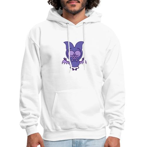 Purple bat meditating in joyful mood - Men's Hoodie