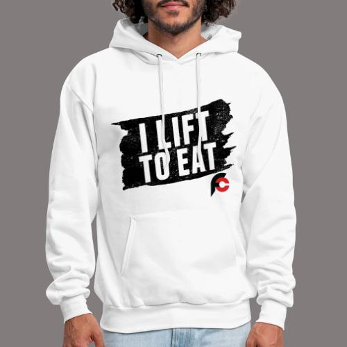 I Lift To Eat Red 3 - Men's Hoodie
