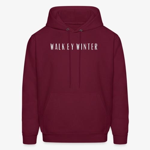 Walk by Winter Logo - Men's Hoodie