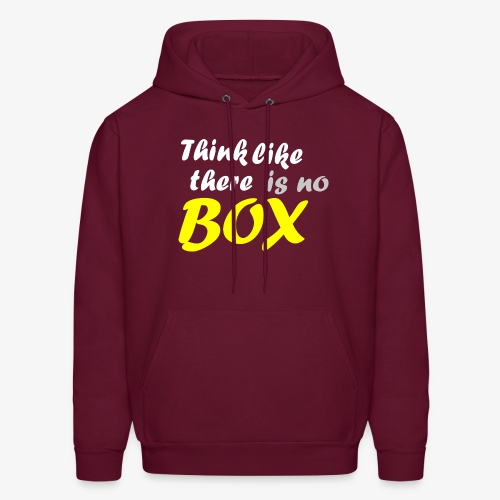 Think like there is no box - Men's Hoodie