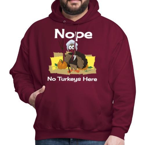 Funny Thanksgiving Turkey Novelty Gift T-Shirt - Men's Hoodie