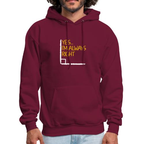 Right Angle Funny Math Teacher Student - Men's Hoodie