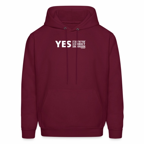 Yes, I am in the correct bathroom, thanks - Men's Hoodie